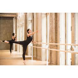Maillot de danza clásica de manga corta en dos materias mujer negro