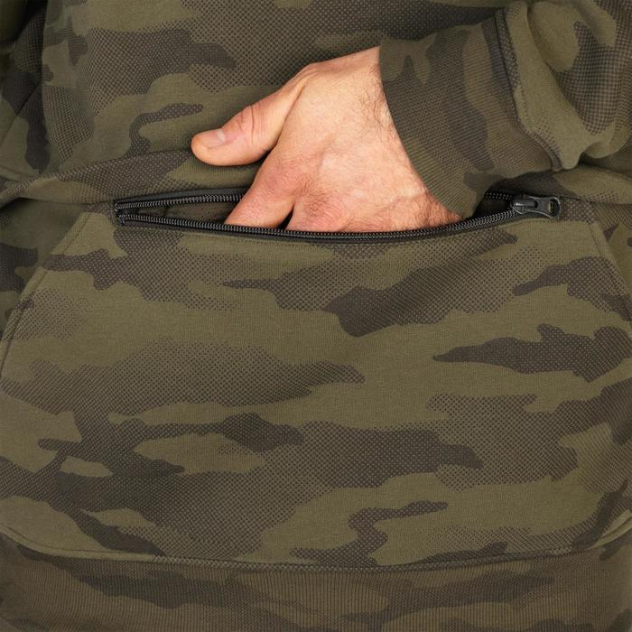 Jagdsweatshirt mit Kapuze SG500 Camouflage Halftone
