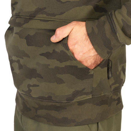 Sweat-shirt capuche chasse 500 Camouflage Halftone