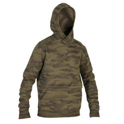 Hunting Hooded Sweatshirt 500 - Halftone Camouflage