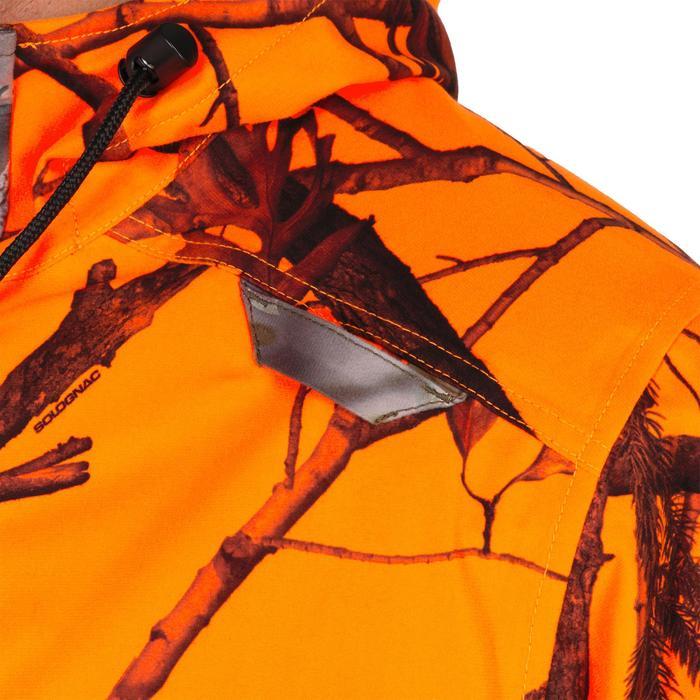 Chaqueta Caza Solognac Puesto 100 Calida Impermeable Camuflaje Naranje Fluo