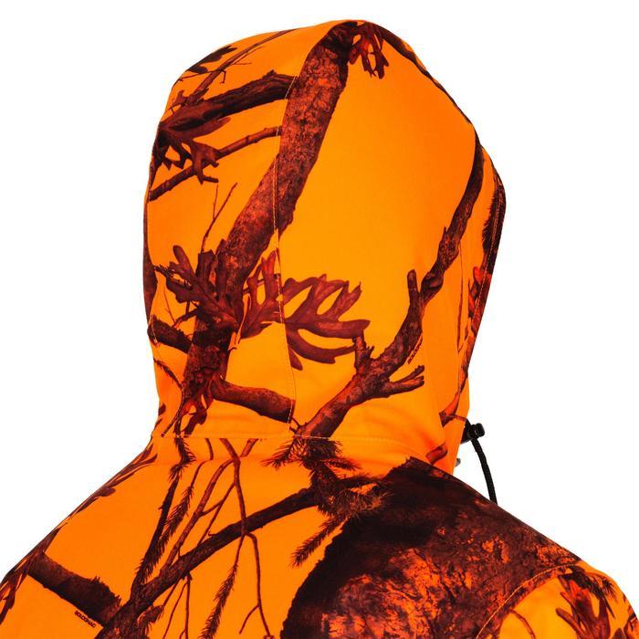 Warme en waterdichte camouflagejas voor de jacht 100 fluo