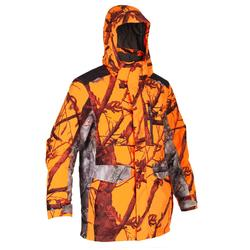 Warme regenjas voor de jacht Supertrack 500 fluo camouflage