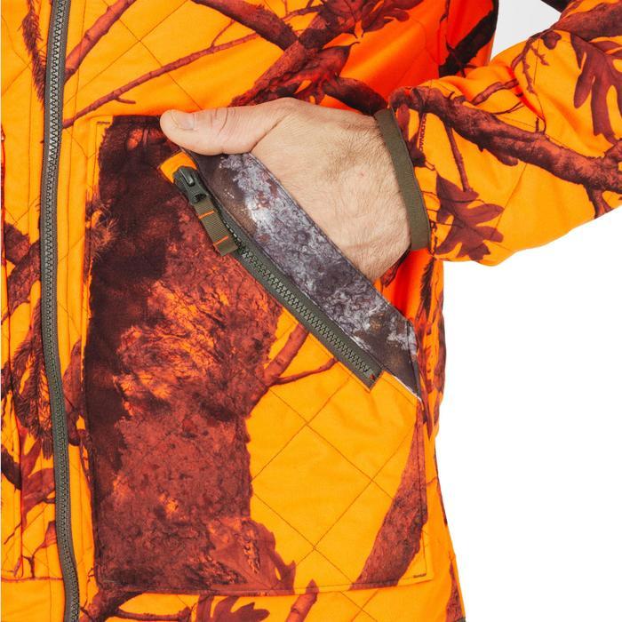 Jagdjacke wendbar Camouflage orange wattiert