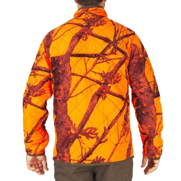 Chaqueta Caza Solognac Acolchada Reversible Camuflaje Naranja Fluo