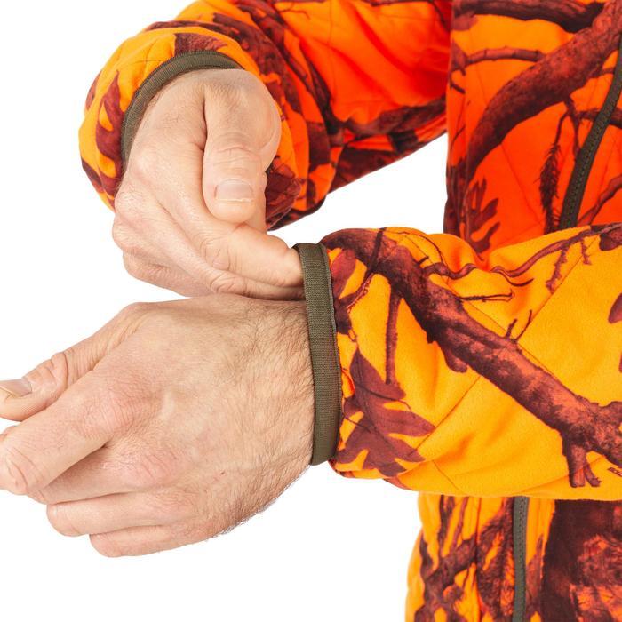 Chaqueta Caza Solognac Bgp 100 Calida Reversible Naranja Fluo Camuflaje Marron