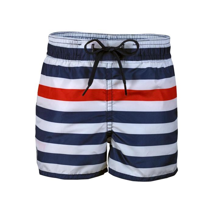 兒童款短版衝浪褲100-海軍條紋款