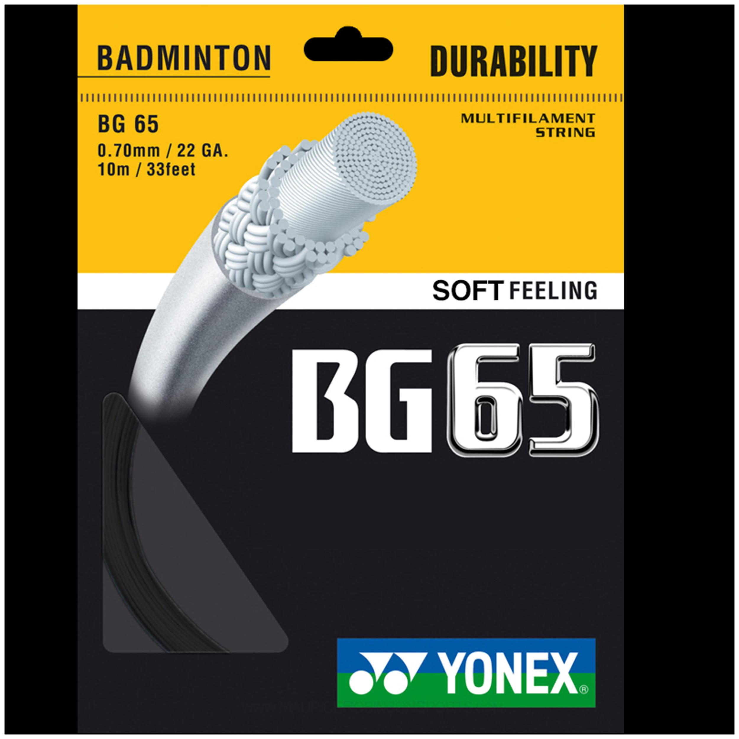 Yonex Badmintonsnaren BG 65 zwart