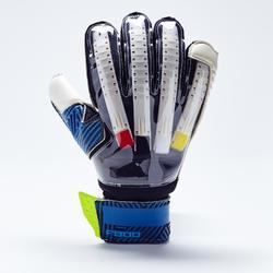 Torwarthandschuhe F900 Finger Protect Erwachsene blau/gelb