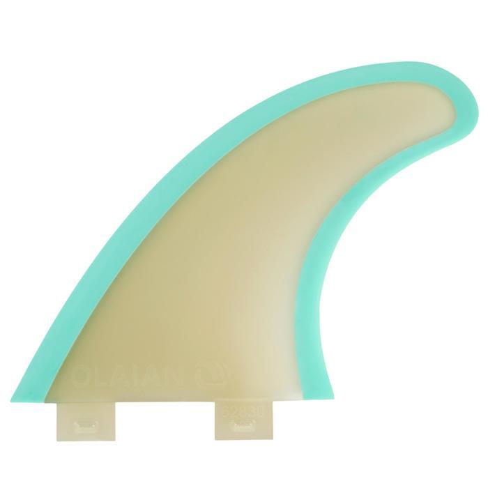 Surfboard 500 8'2 Mini Malibu Sandwich-Bauweise aus Epoxydharz 3 FCS-Finnen