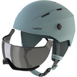 成人下坡滑雪安全帽搭配護目鏡H350 - 藍色
