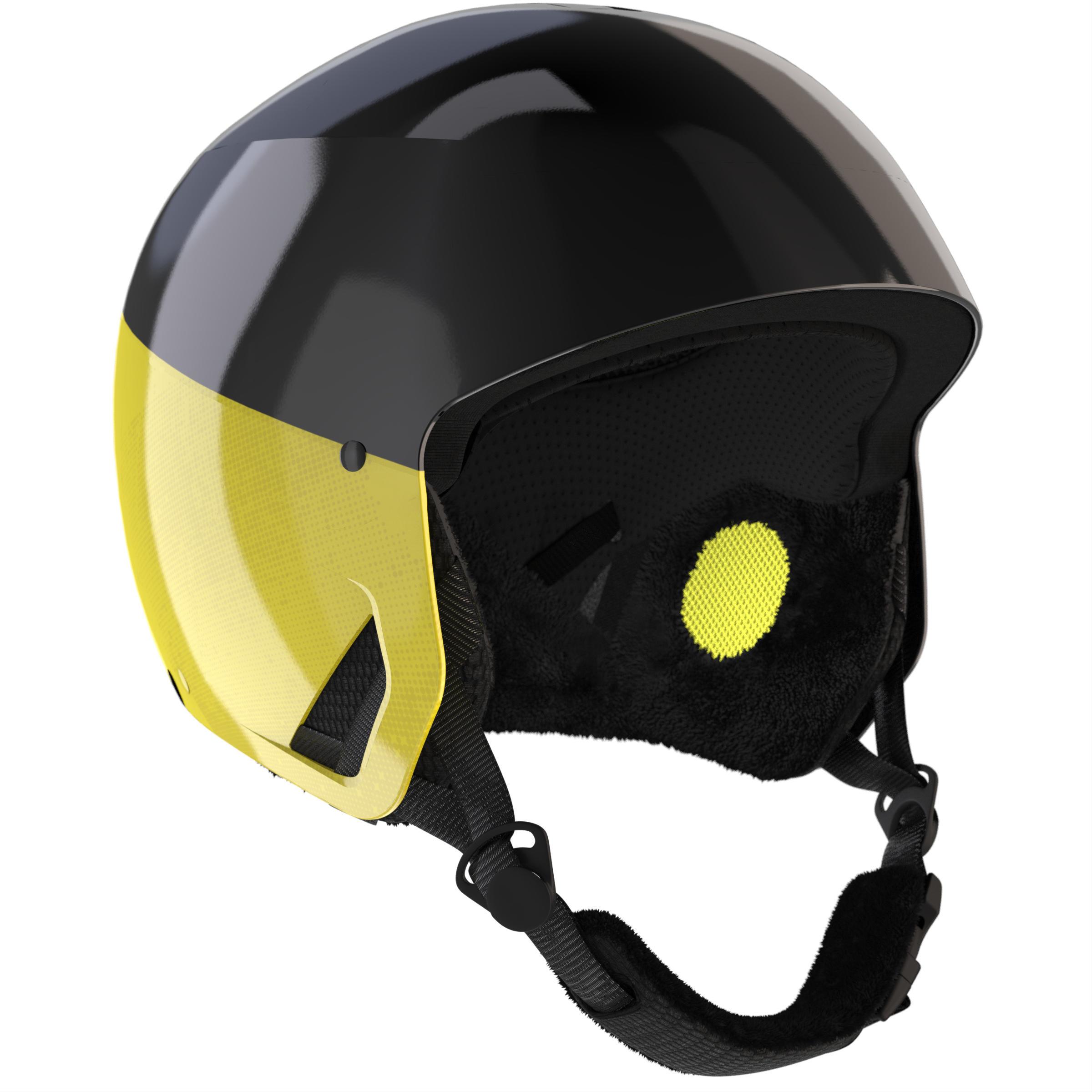 Wed'ze Skihelm H-RC 500 zwart en geel