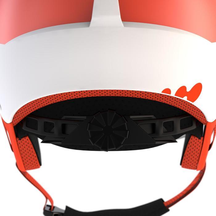 Skihelm voor kinderen H-KID 550 wit/oranje