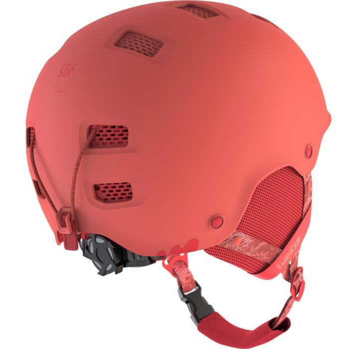 Casco de snowboard y de esquí adulto y junior H-FS 300 rojo coral