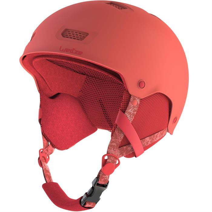 Ski-snowboardhelm voor volwassenen en kinderen H-FS 300 koraalrood