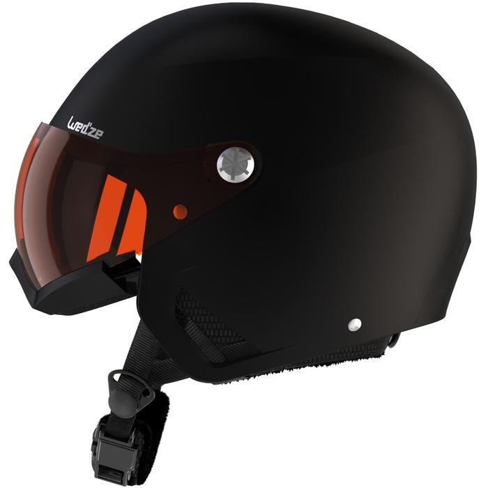 Skihelm met vizier voor pisteskiën volwassenen HRC 550 zwart
