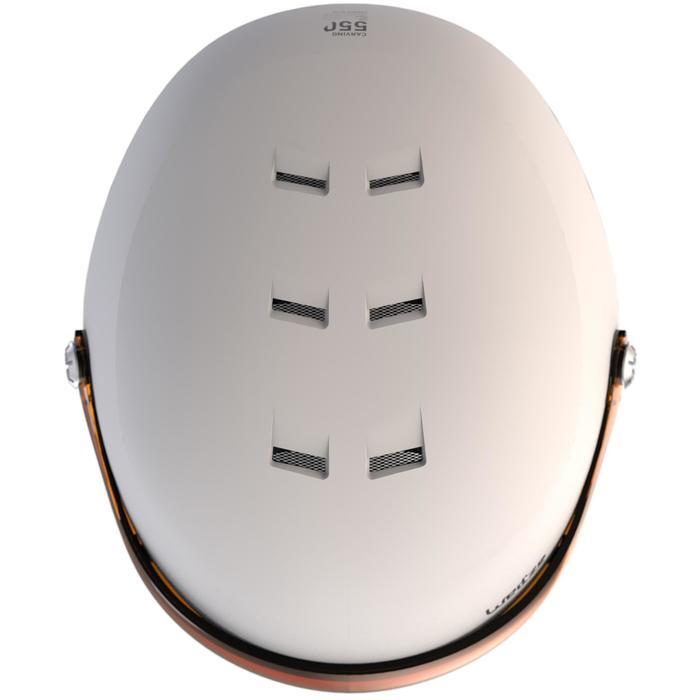 Skihelm HRC 550 Visier Erwachsene weiß