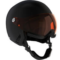 ADULTS' DOWNHILL SKI HELMET WITH VISOR HRC550 - BLACK