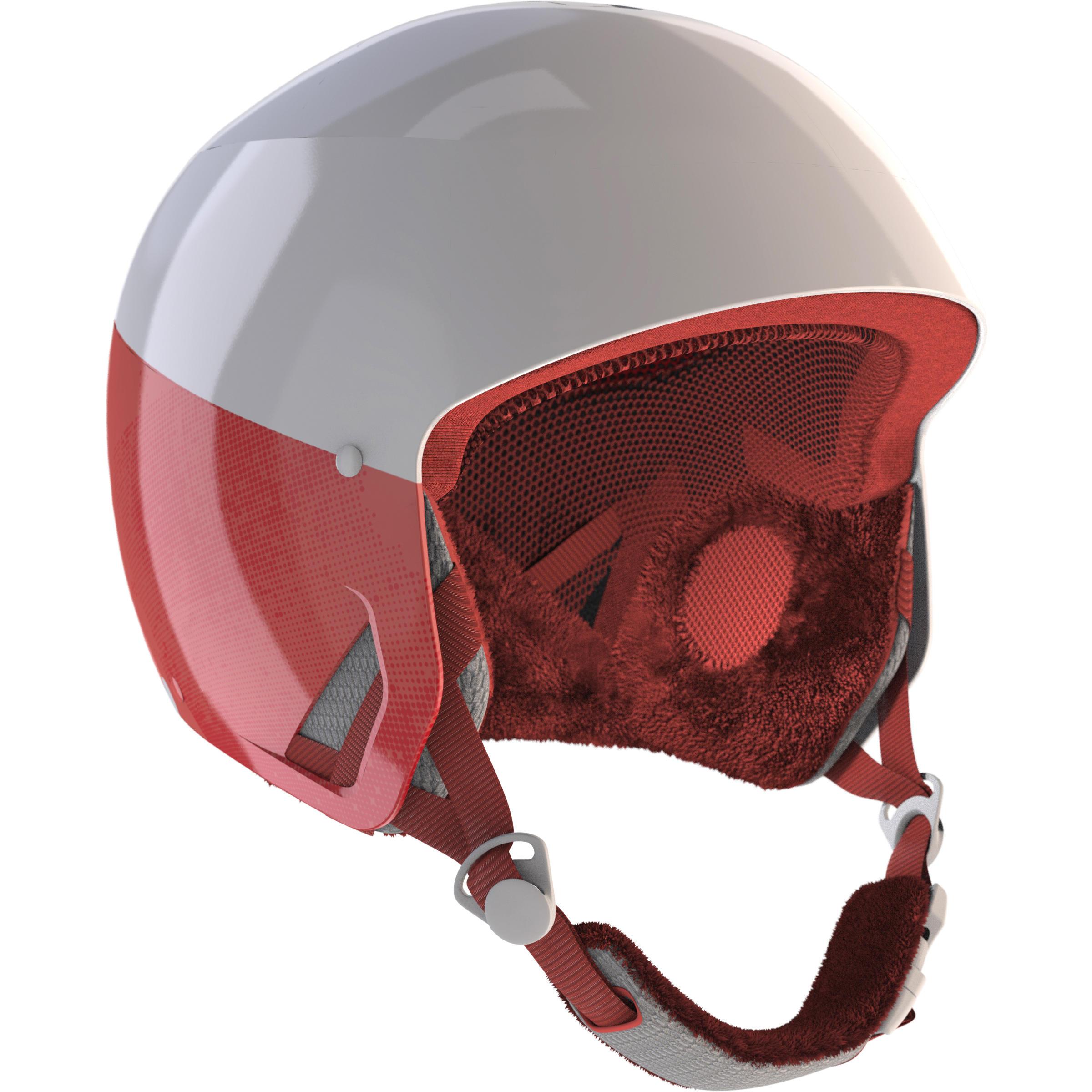 CASQUE DE SKI ADULTE H-RC 500 BLANC ET ROSE