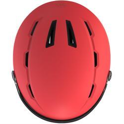 成人下坡滑雪安全帽搭配護目鏡H350 - 珊瑚紅