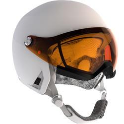 Skihelm met vizier voor pisteskiën volwassenen HRC550 wit