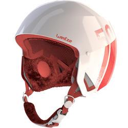 滑雪安全帽H-RC 500 - 白色與粉色