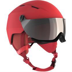 成人下坡滑雪安全帽M 350珊瑚紅