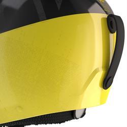 Skihelm voor pisteskiën volwassenen HRC 500 zwart en geel