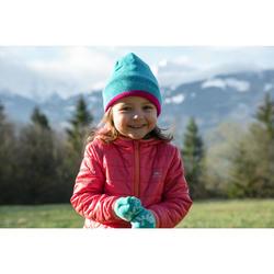 Gewatteerde kinderjas MH voor wandelen marineblauw