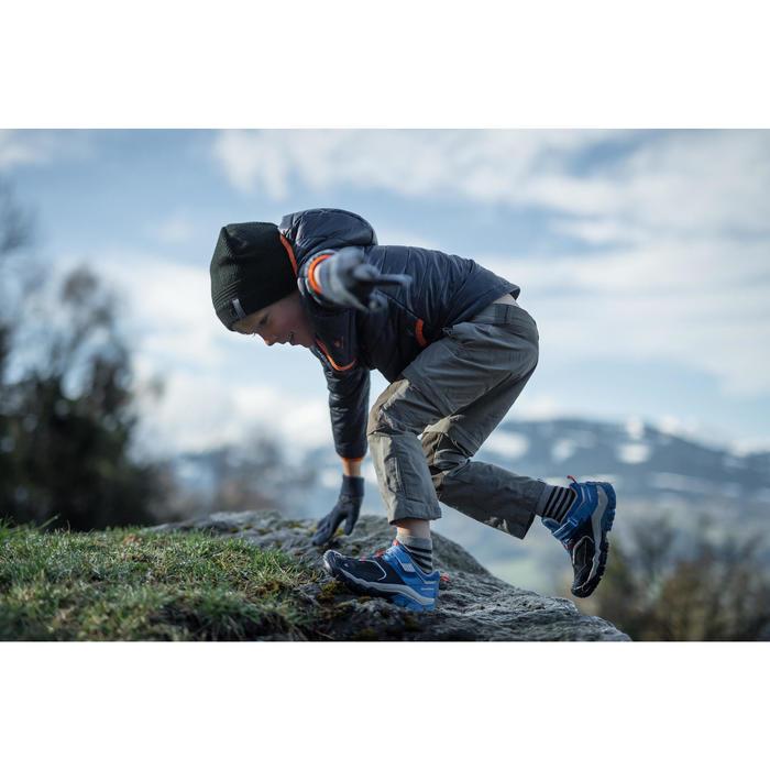 Wanderschuhe Klett Crossrock Kleinkinder Jungen blau/neon