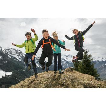 Chaussures de randonnée montagne basses avec lacet fille Crossrock bleues/rose