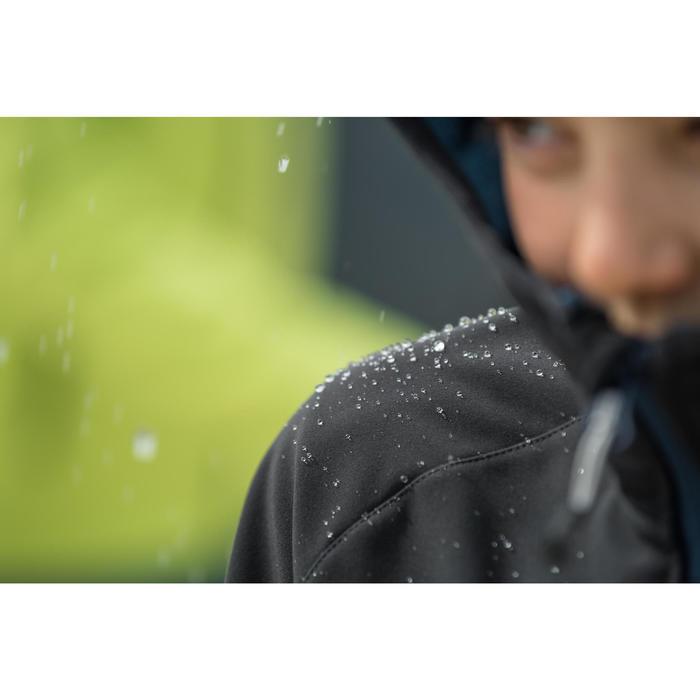 Chaqueta Softshell de senderismo niño Hike 900 negro