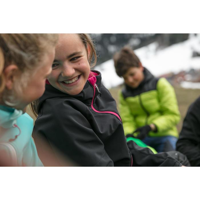 Softshell jas voor wandelen kinderen MH550 grijs 7-15 jaar