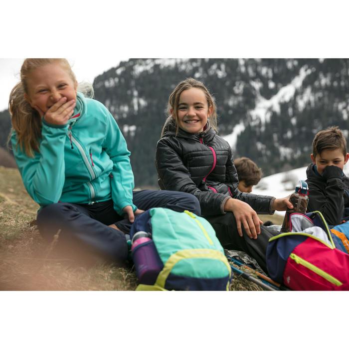 Doudoune enfant de randonnée fille MH500 NOIRE ROSE