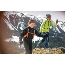 Softshelljacke Wandern MH550 Kinder 123-172cm grau
