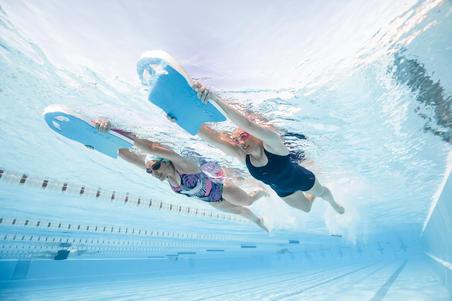 Maillot de bain de natation une pièce Heva shorty bleu marine - Femmes