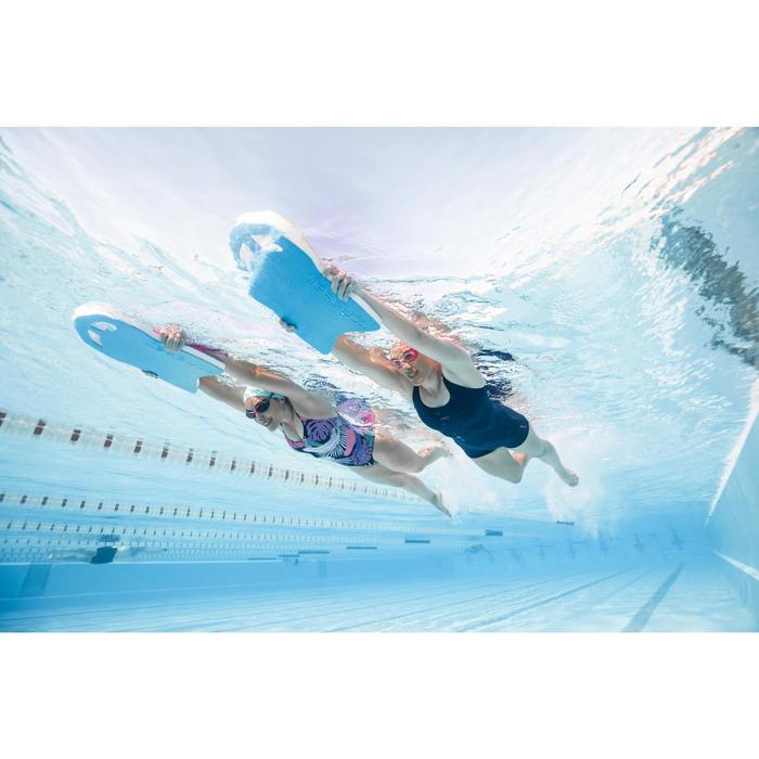 Schwimmbrett groß Kick 100 blau/rosa wendbar