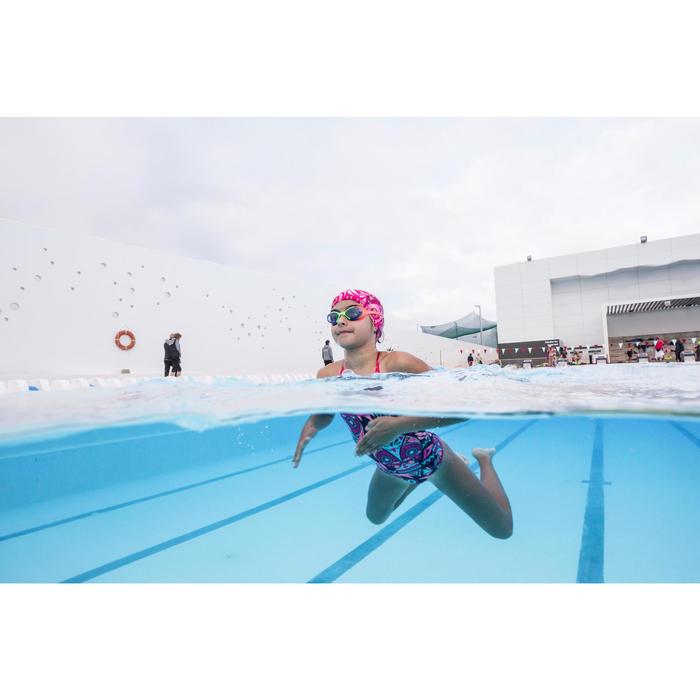 Maillot de natation fille une pièce Riana Allowly bleu rose