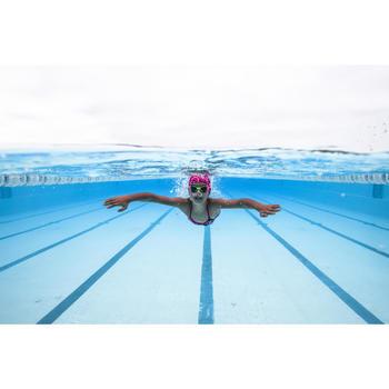 Lunettes de natation 100 XBASE Taille S DYE Orange Bleu