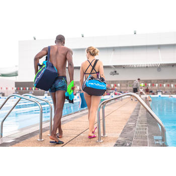 Badslippers voor zwembad heren Slap 500 plus blauw