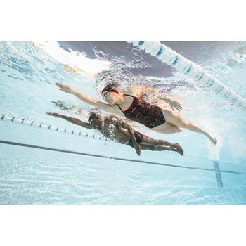 Schwimmbrille getönt 500 Spirit Größe L schwarz/rot