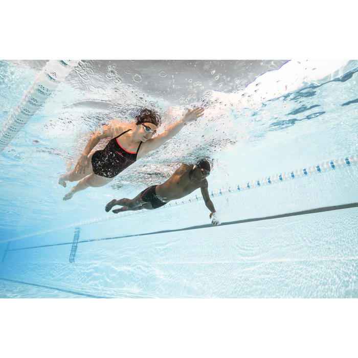 Maillot de bain de natation une pièce femme résistant au chlore Jade stel orange