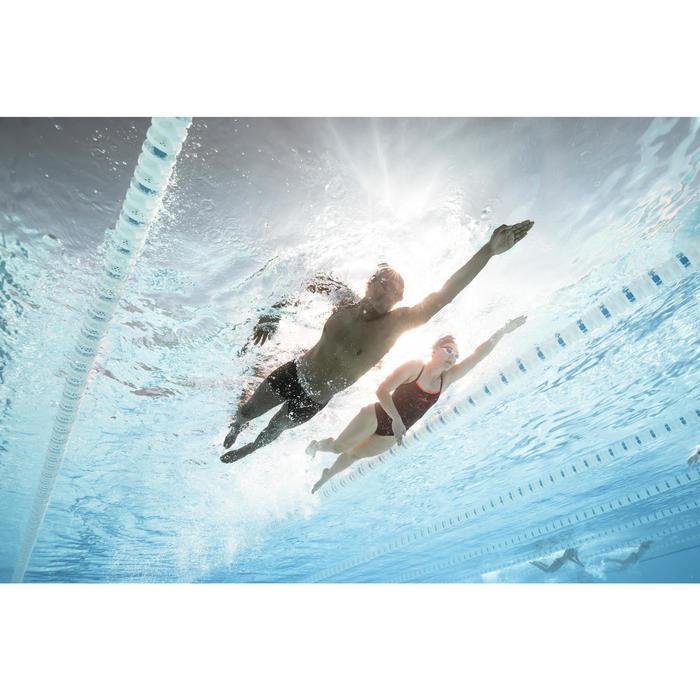Zwembril 500 Spirit maat L zwart/rood getinte glazen