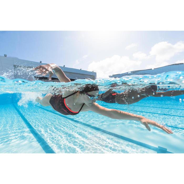 Bañador de natación una pieza mujer resistente al cloro Jade Stel naranja
