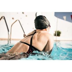 Bañador Natación Piscina Nabaiji Jade Mujer Forma Espalda X Escotado Estampado