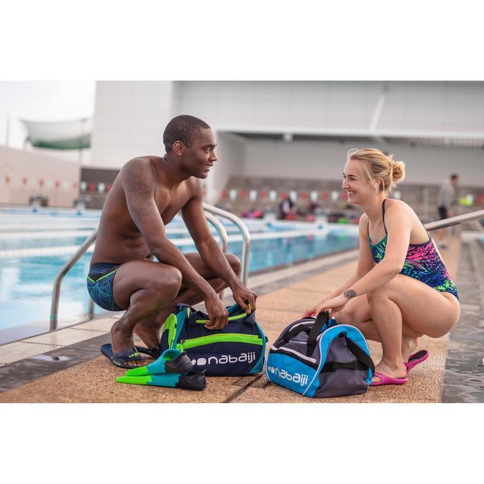 Korte zwemvliezen voor zwemsport Silifins 500 driekleurig