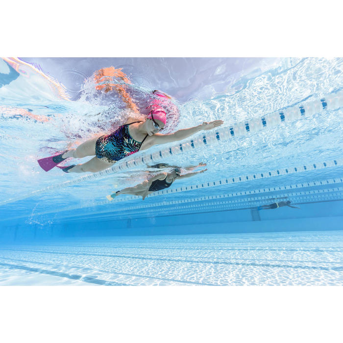 Schwimmflossen lang Trainfins 500 Erwachsene & Kinder pink