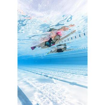 Maillot de bain de natation une pièce femme résistant au chlore Jade jun bleu