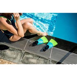 Schwimmflossen kurz Silifins 500 dreifarbig