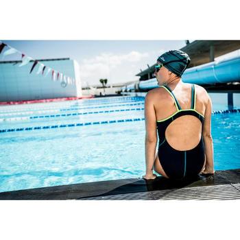 500 SPIRIT Swimming Goggles, Size S - Blue Green, Smoke Lenses